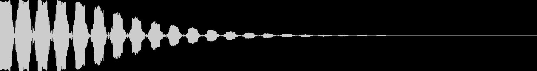 [プッ]カーソル移動/決定音/03の未再生の波形