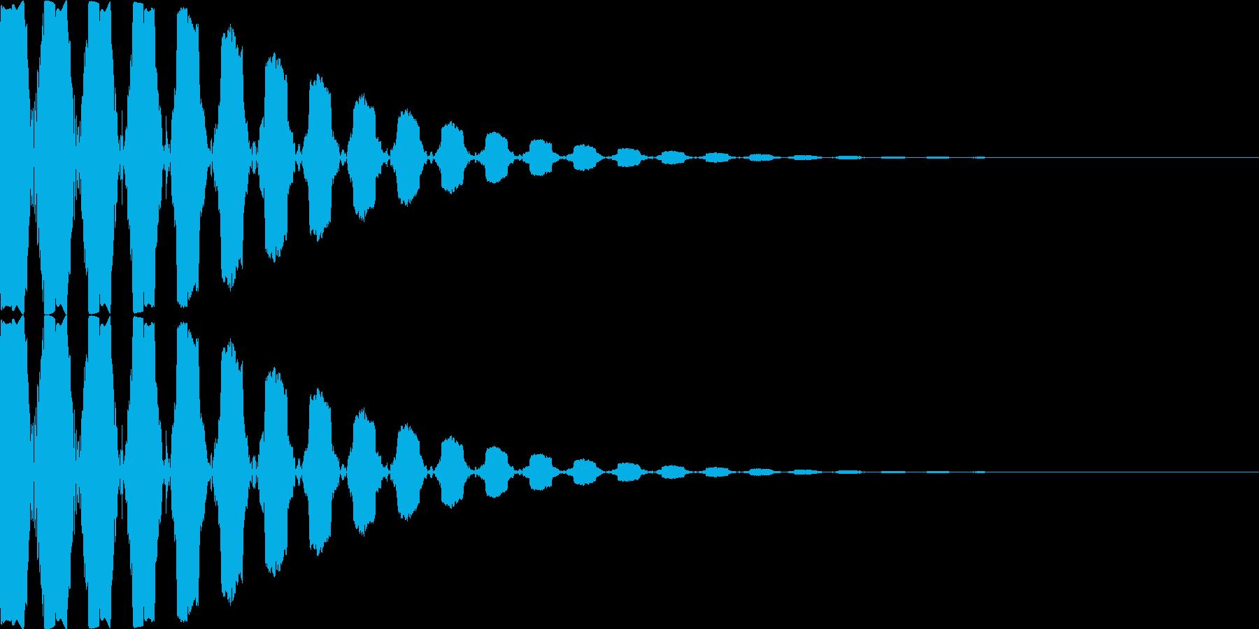 [プッ]カーソル移動/決定音/03の再生済みの波形