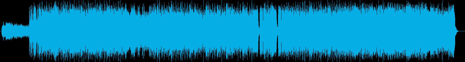 激しく疾走感のあるドラムギターサウンドの再生済みの波形