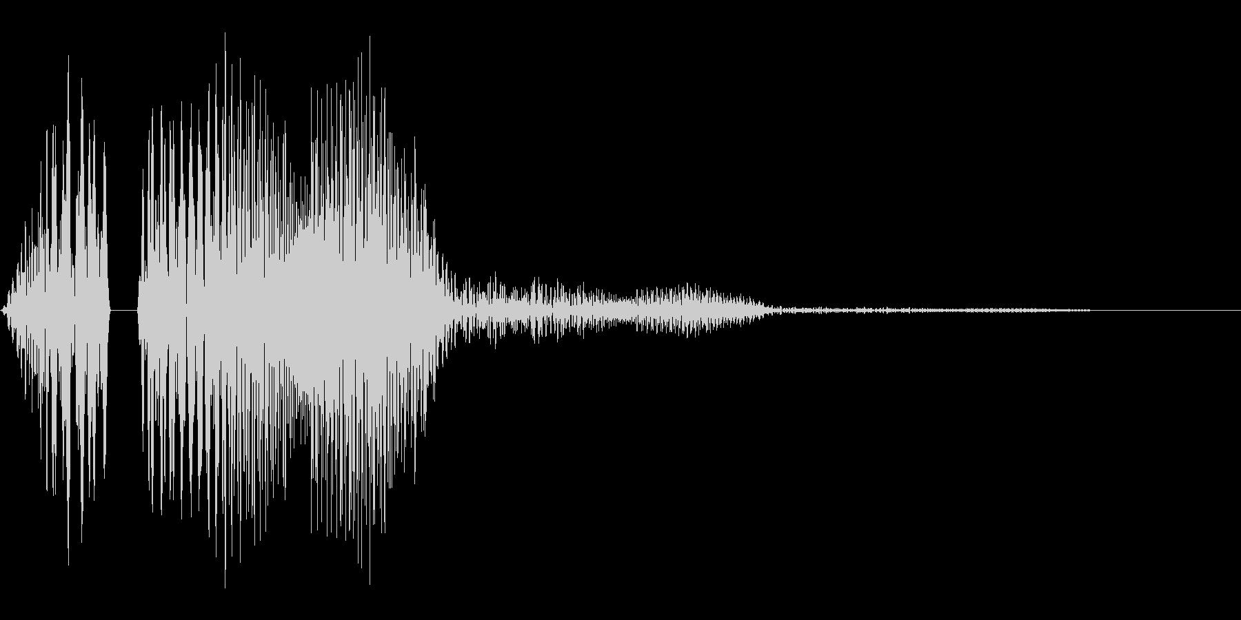 ポコッというボタンやタッチ音に使えるか…の未再生の波形