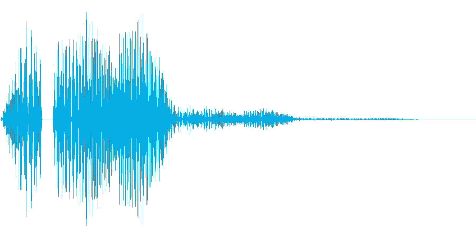 ポコッというボタンやタッチ音に使えるか…の再生済みの波形