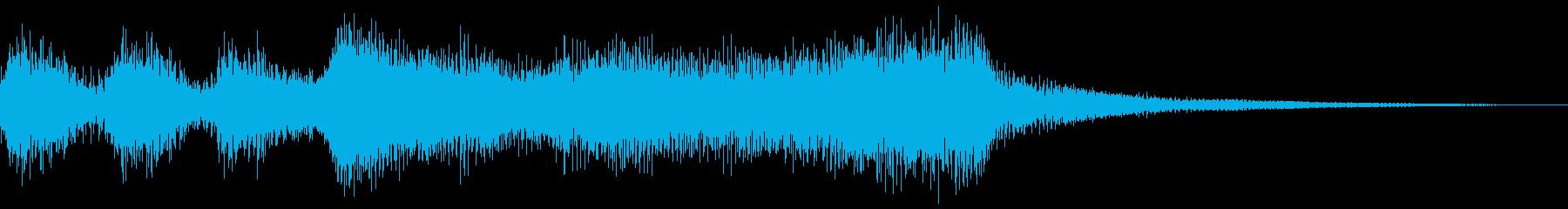 マリンバとブラスの可愛いファンファーレの再生済みの波形