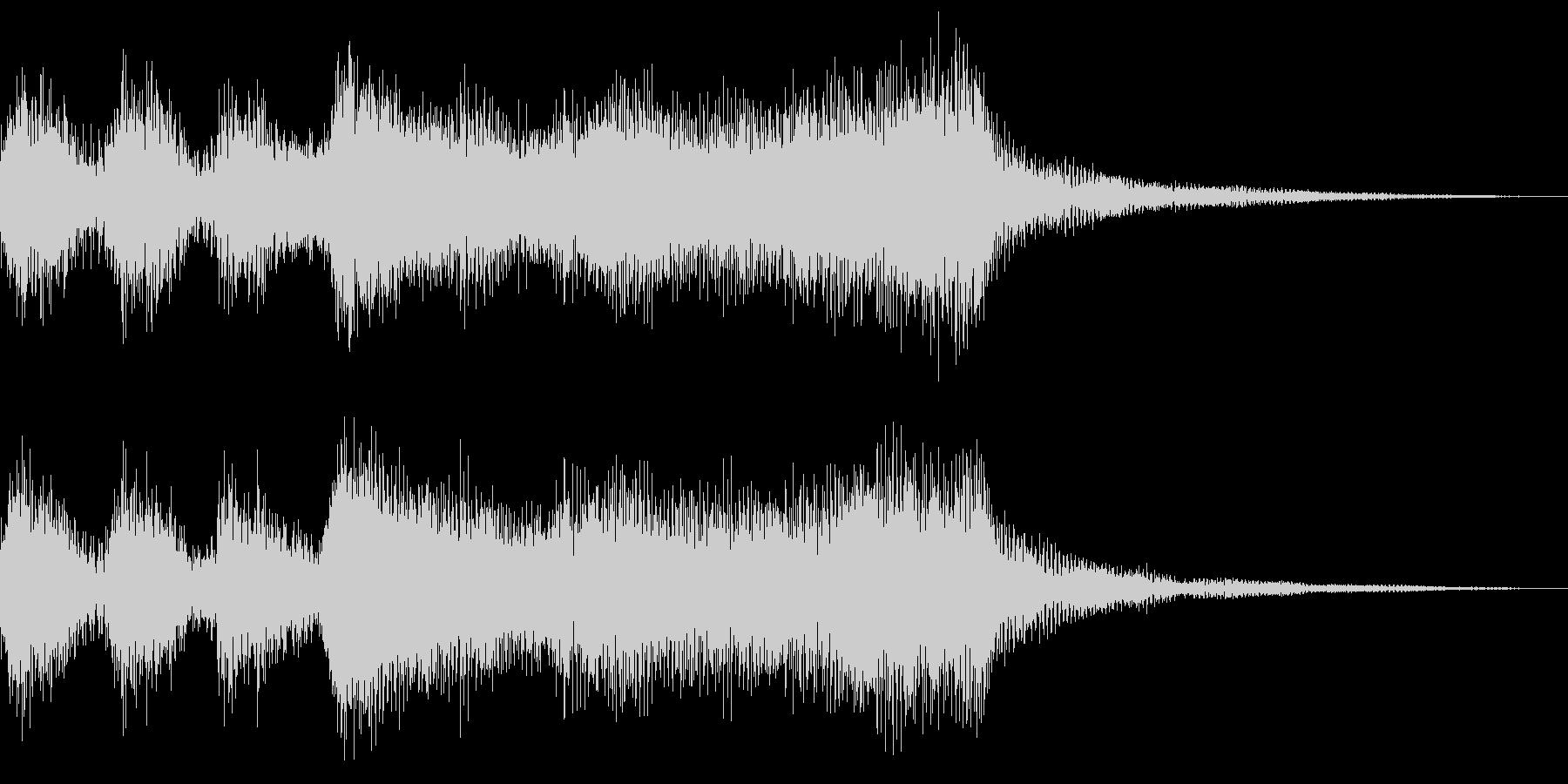 マリンバとブラスの可愛いファンファーレの未再生の波形