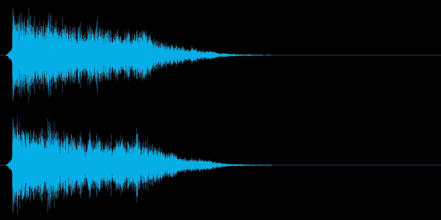コミカルなダッシュ!ジャンプの効果音02の再生済みの波形