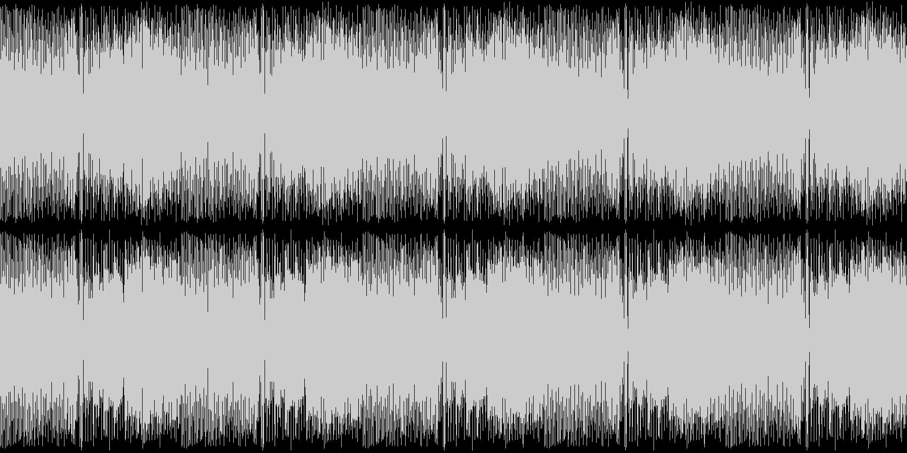 カンフー・中華風チップチューン・4ループの未再生の波形