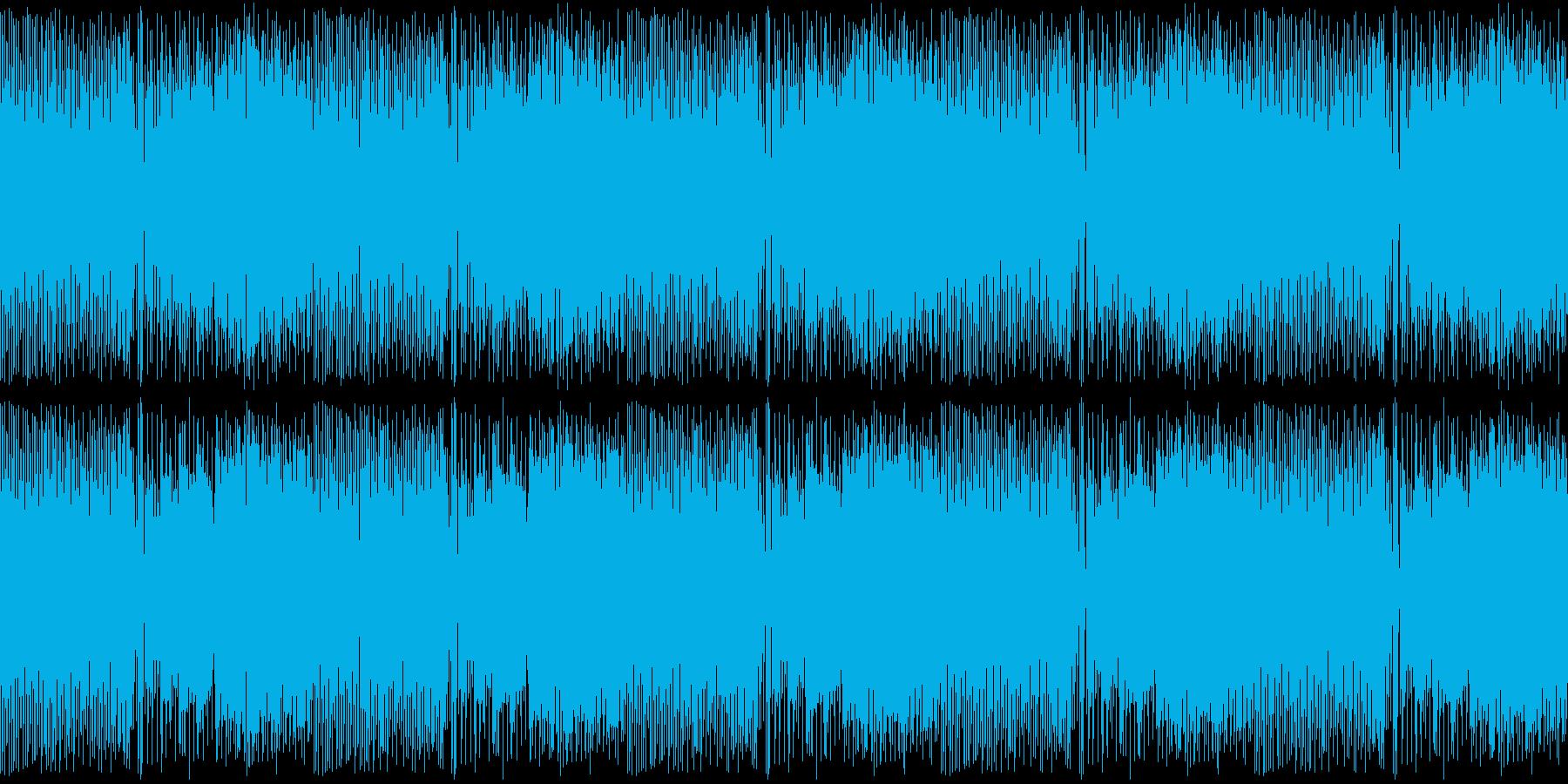 カンフー・中華風チップチューン・4ループの再生済みの波形