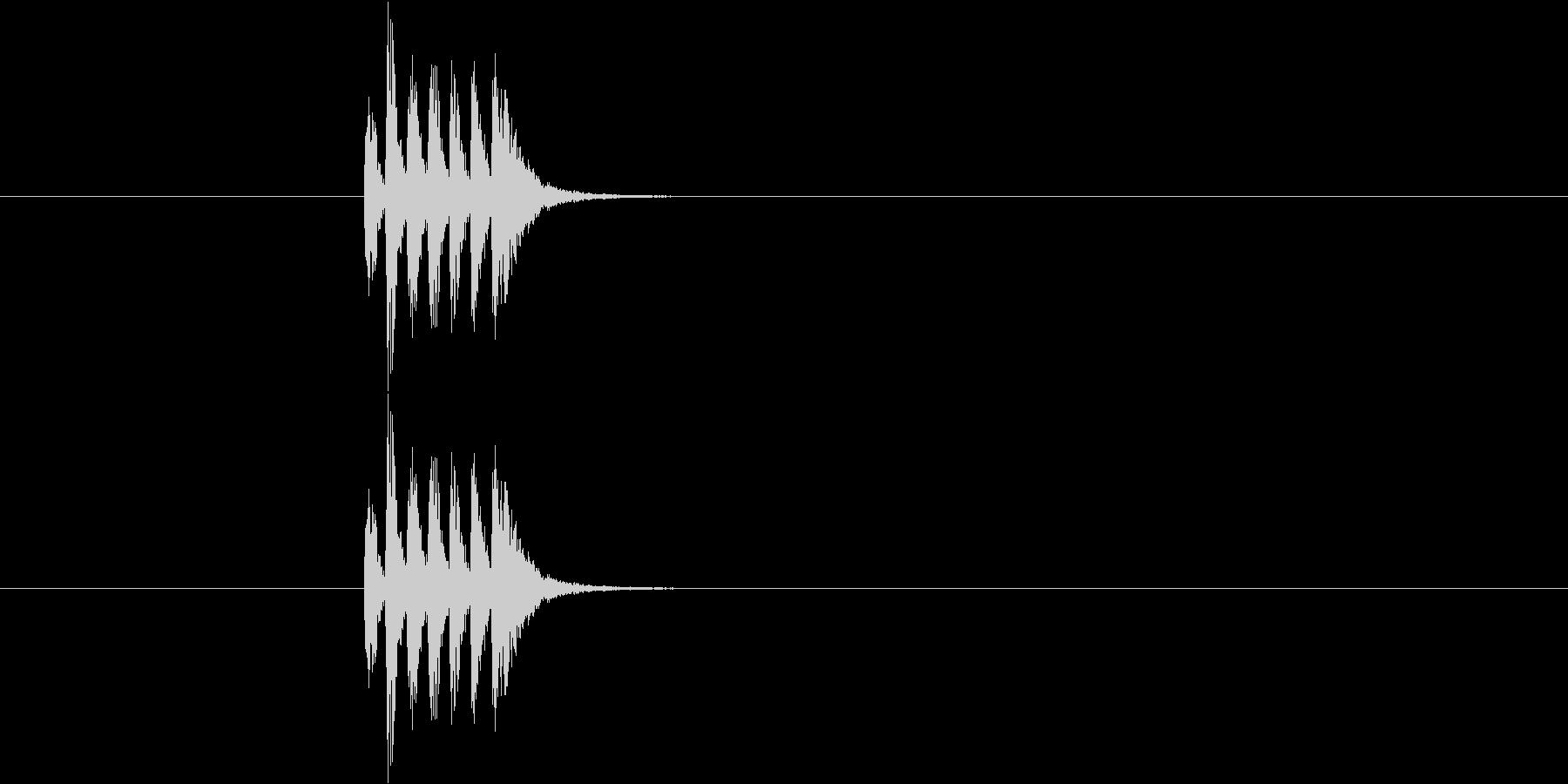 そろばんを「ジャっ!」っと弾く音の未再生の波形