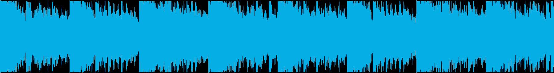 無機質なエレクトロニカBGM(ループ)の再生済みの波形