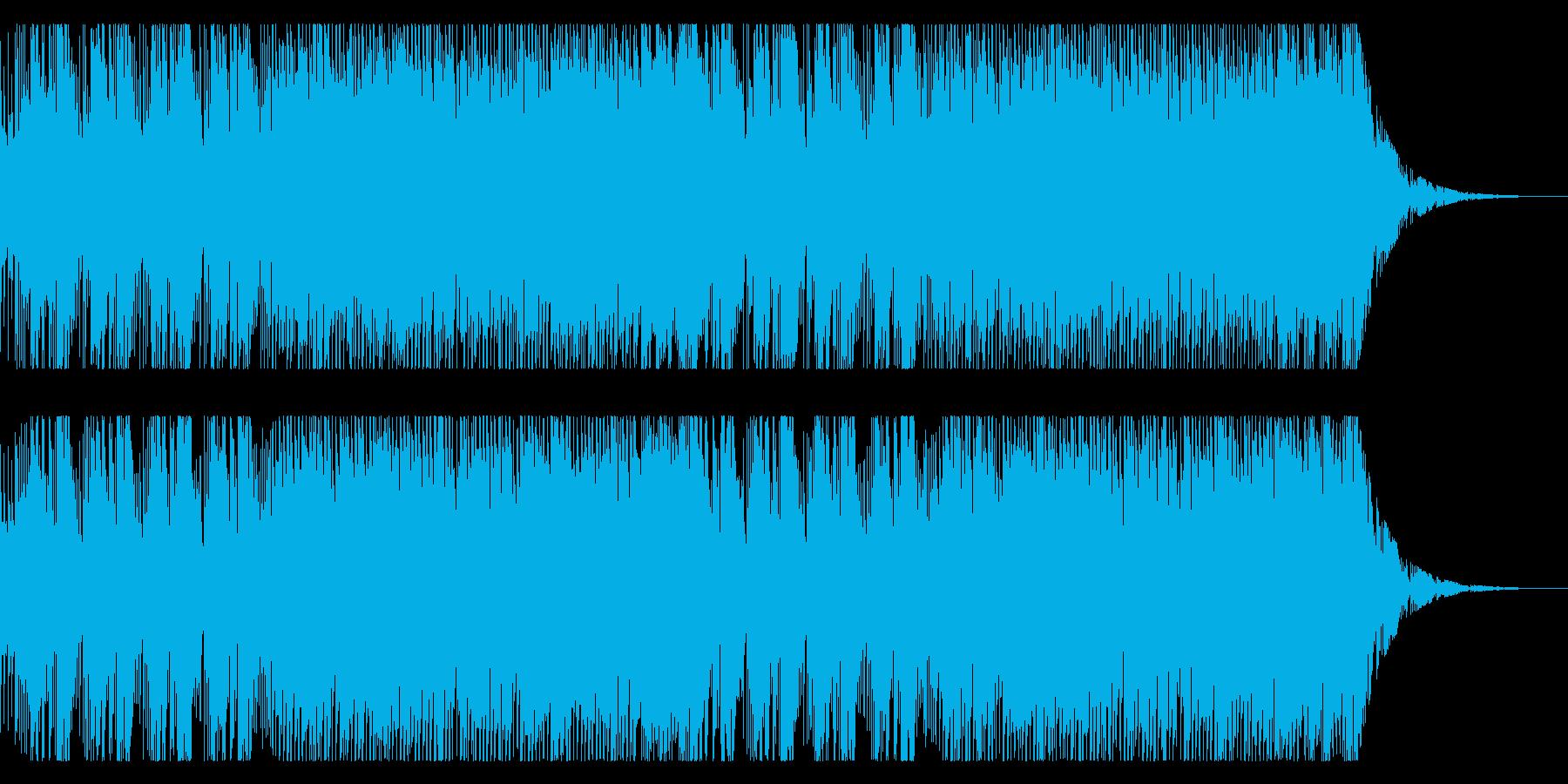 時限イベント用の焦らされるロック曲の再生済みの波形