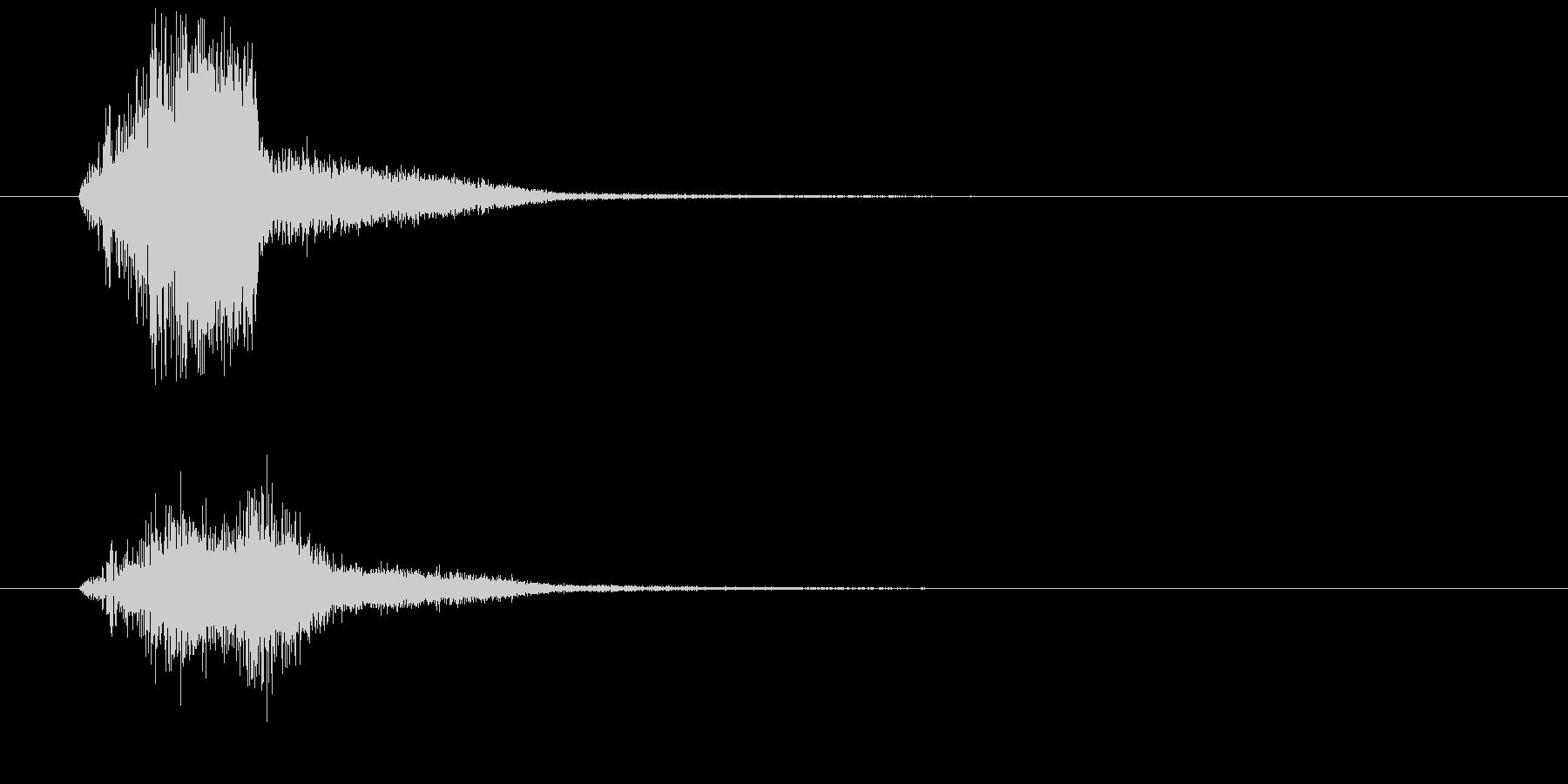 場面展開の未再生の波形