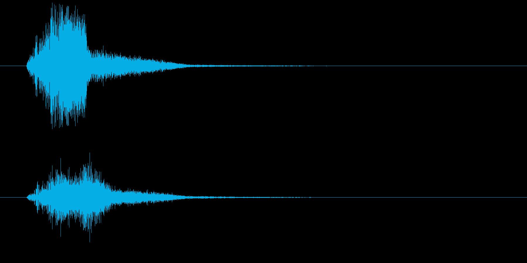 場面展開の再生済みの波形