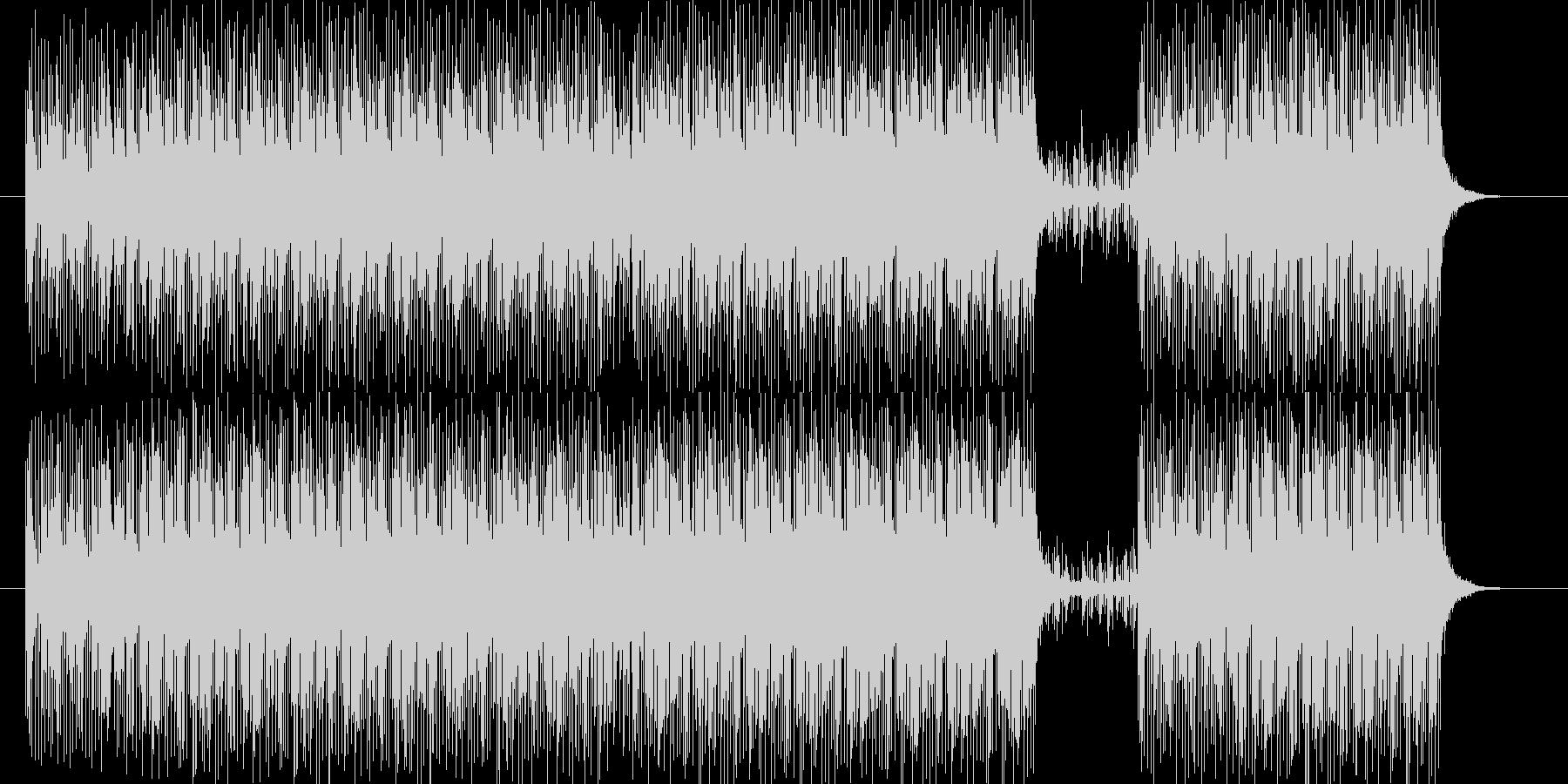 無機質で疾走感のある楽曲の未再生の波形