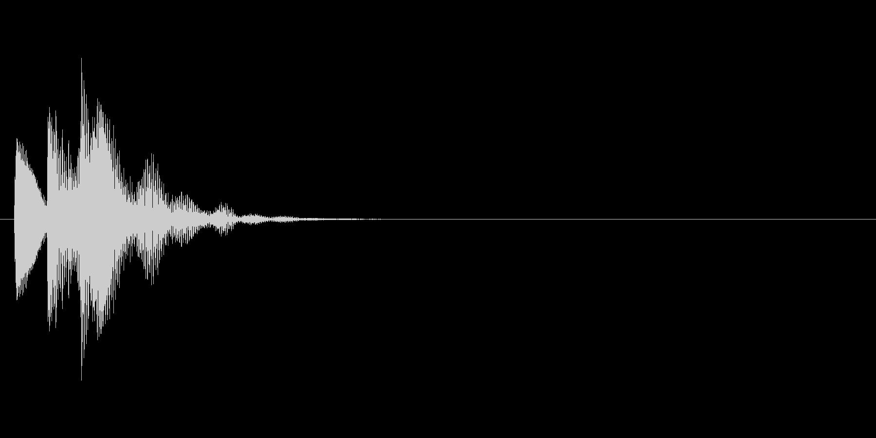 タララッ↑(決定音、柔らかい雰囲気)の未再生の波形
