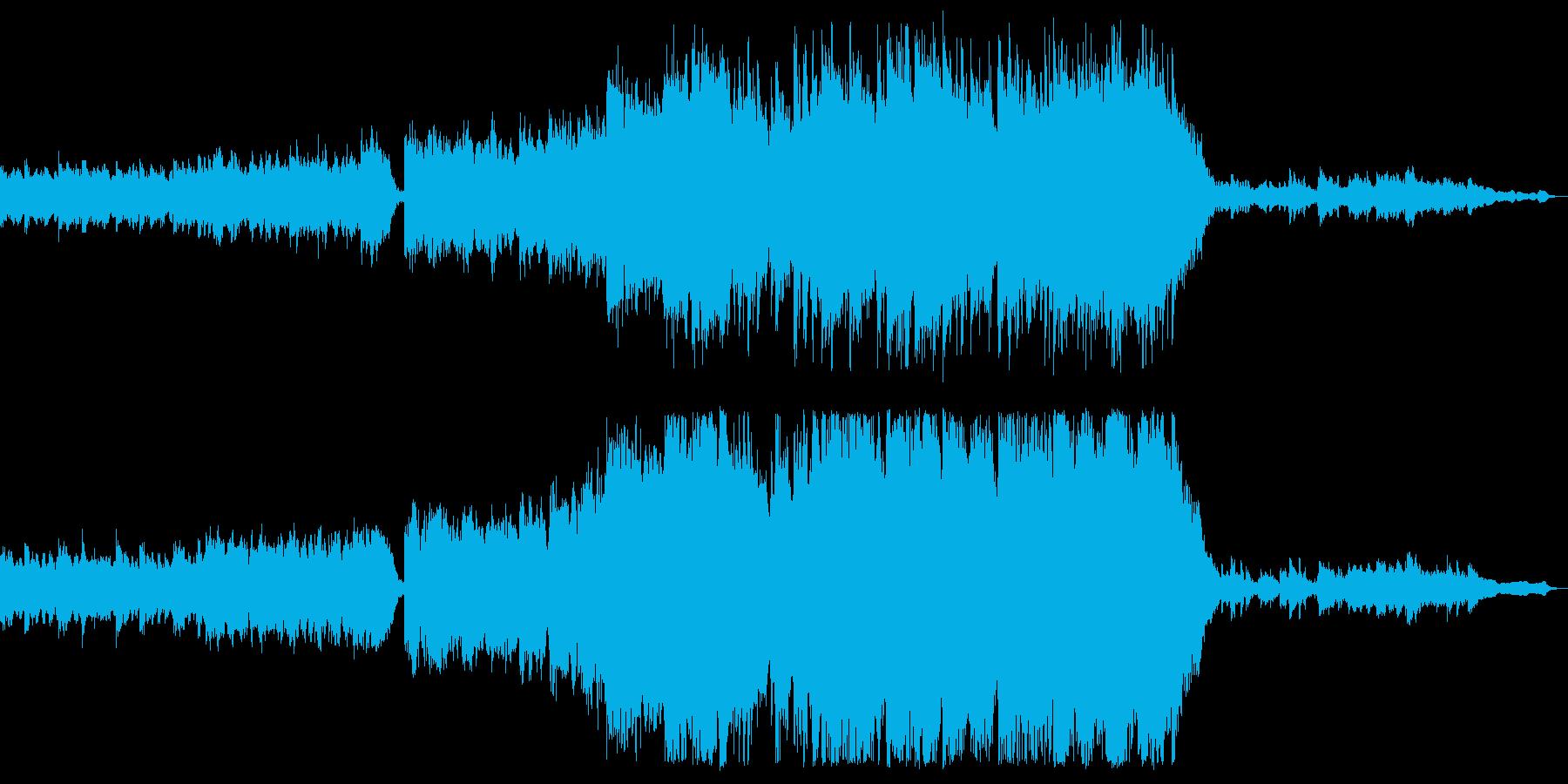 フィナーレ用の壮大なオーケストラの再生済みの波形