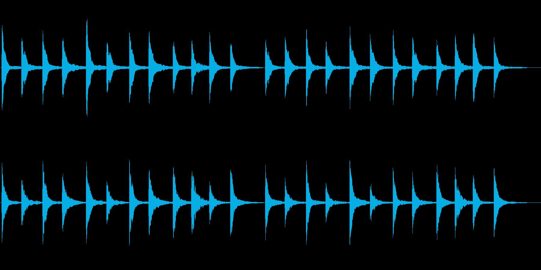 映像に効果的なピアノ+シンセ(シンプル)の再生済みの波形