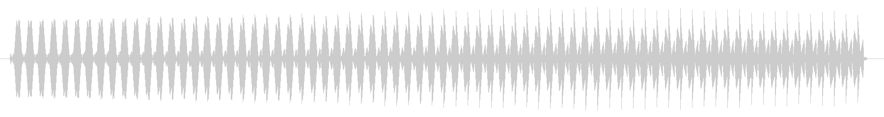 ヴゥー。クイズ不正解・ブザー音の未再生の波形