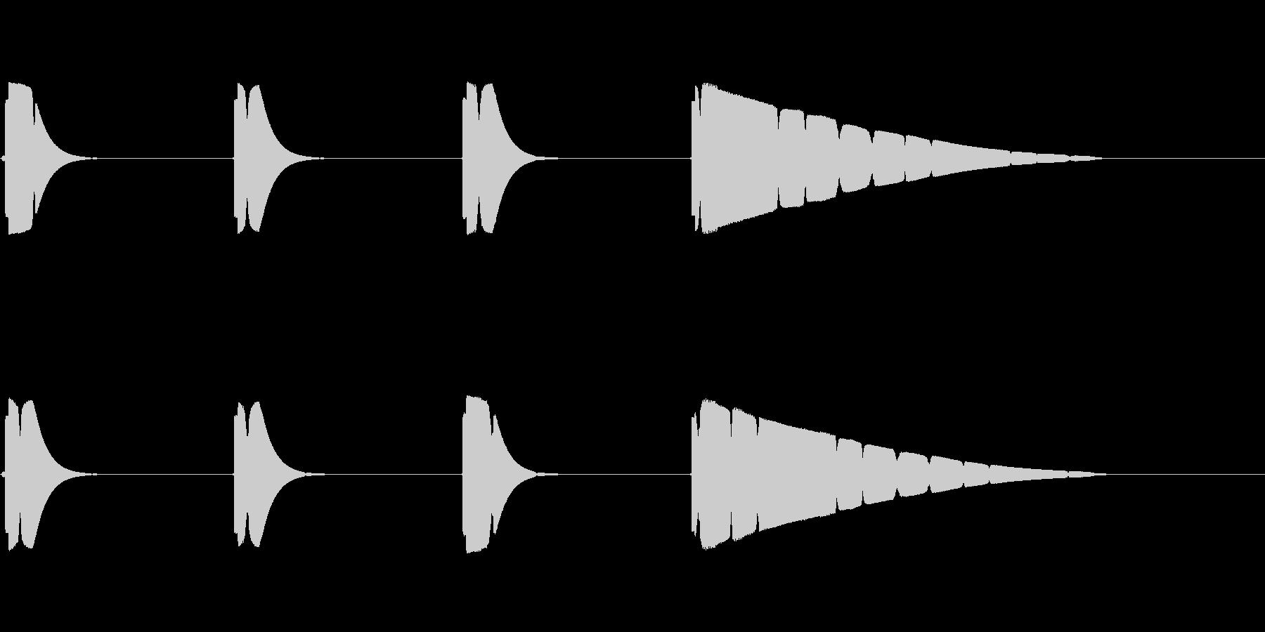 プップップッポーン(カウント音、遅め)の未再生の波形
