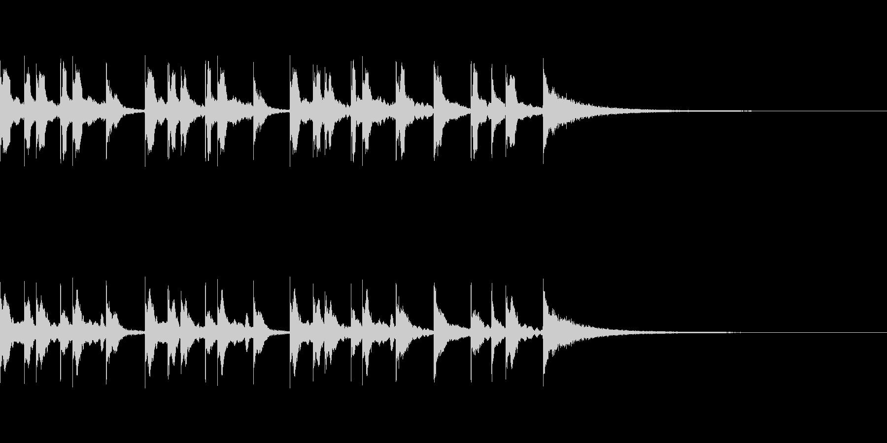 コミカルな和風ジングルの未再生の波形
