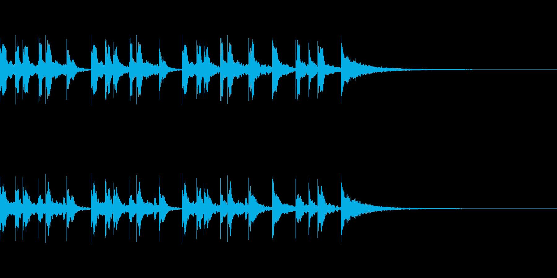 コミカルな和風ジングルの再生済みの波形