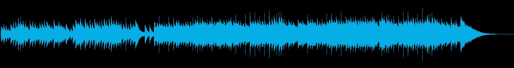 回想シーンを連想させるピアノ曲の再生済みの波形