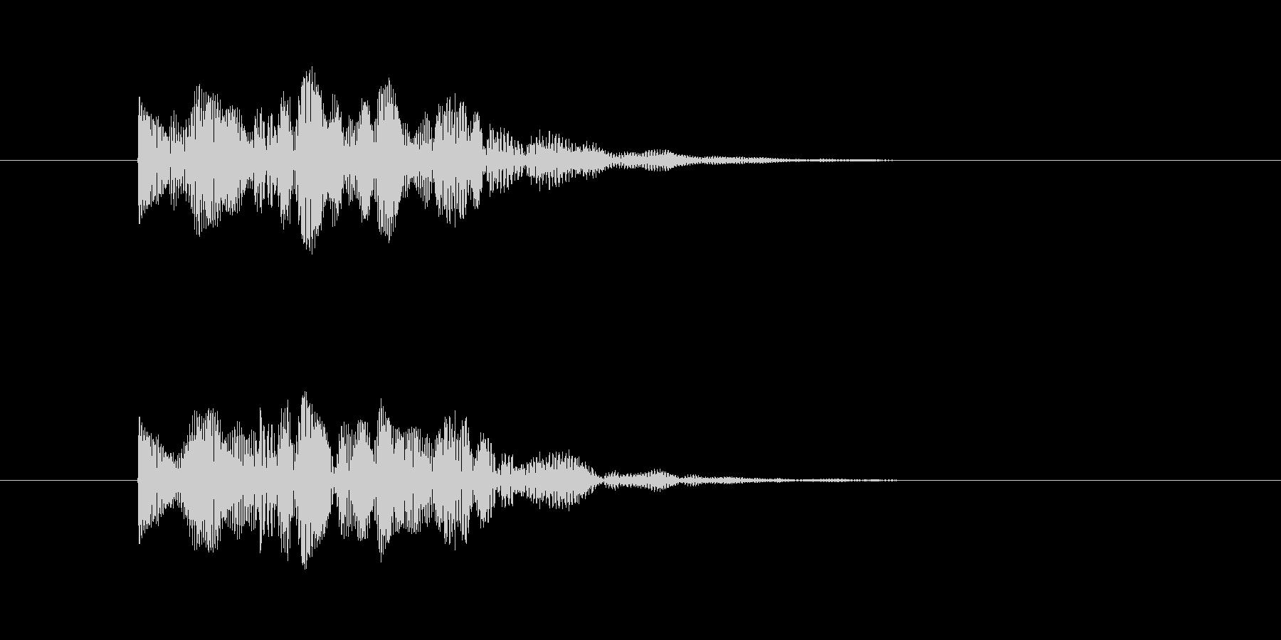 宇宙人 鳴き声 (高め、短い)の未再生の波形