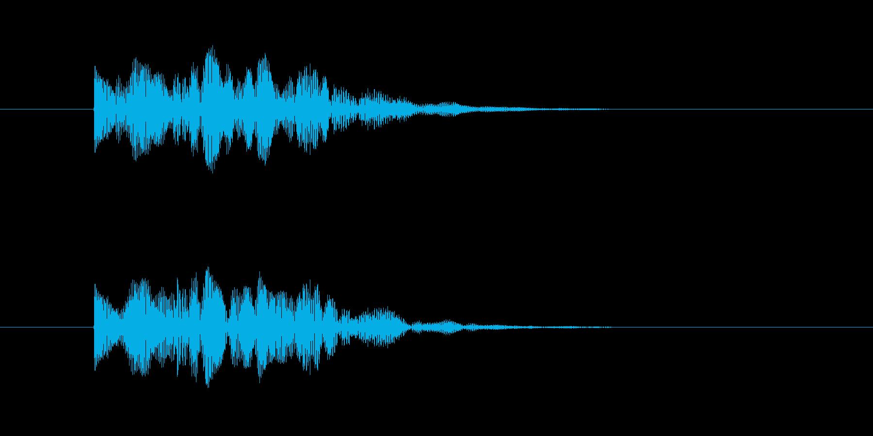宇宙人 鳴き声 (高め、短い)の再生済みの波形