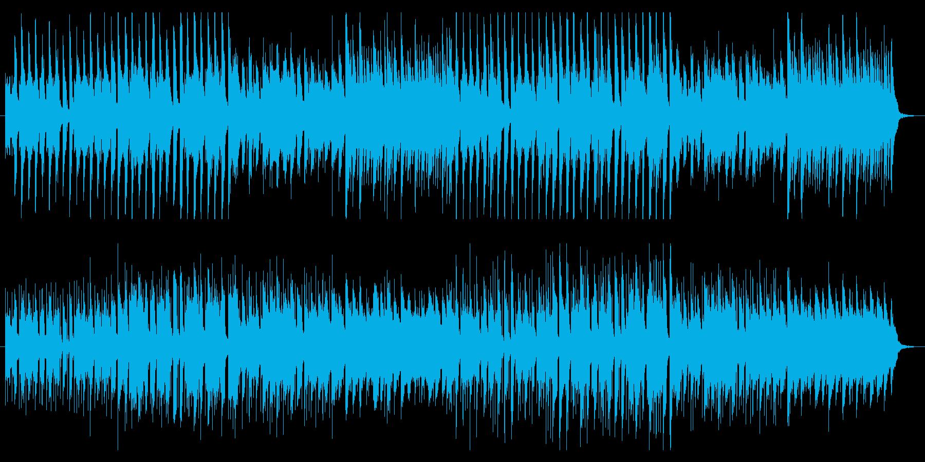 ギャグシーンで流れる曲の再生済みの波形