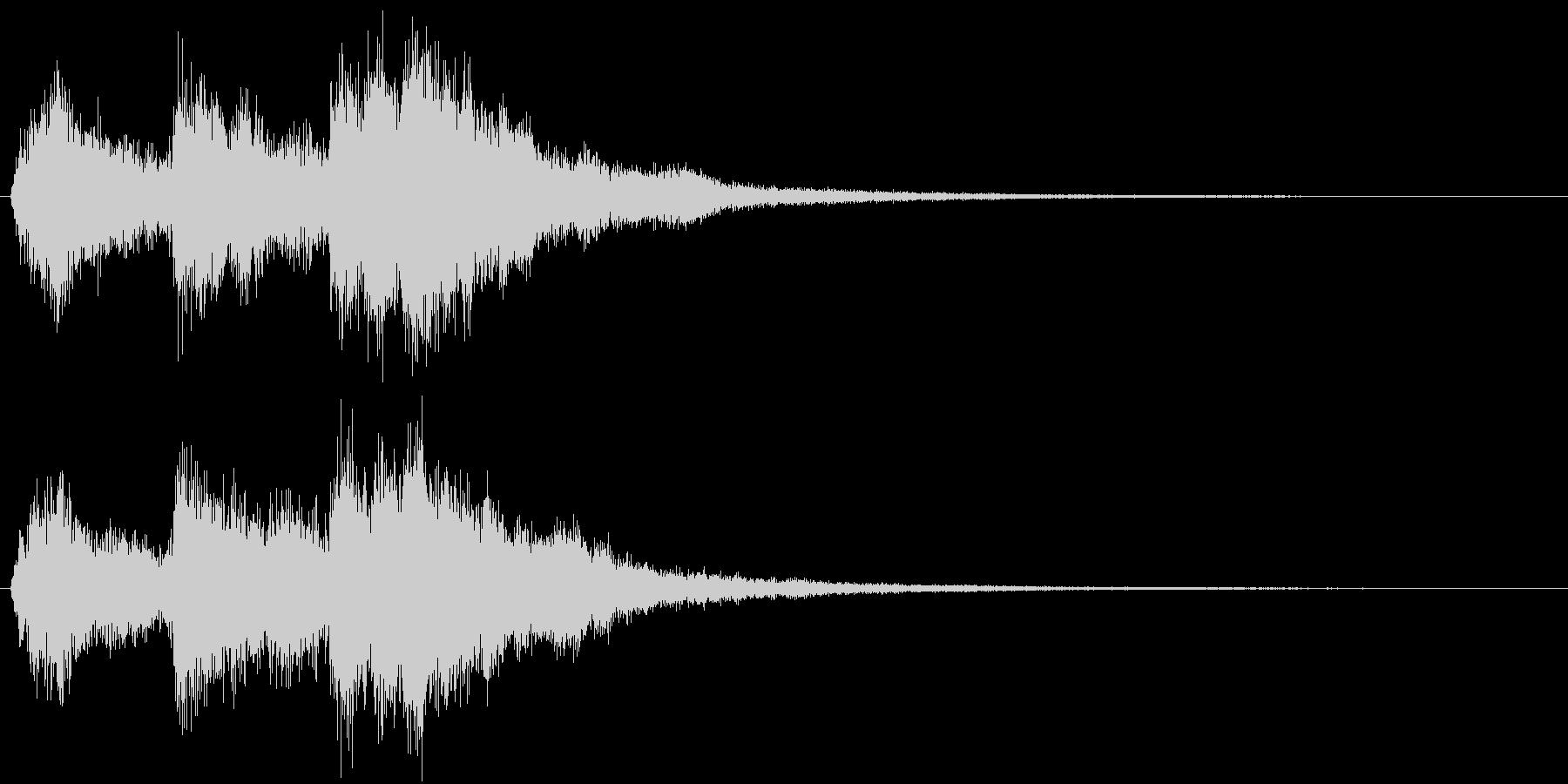 宝箱発見やLvUpをイメージした効果音の未再生の波形
