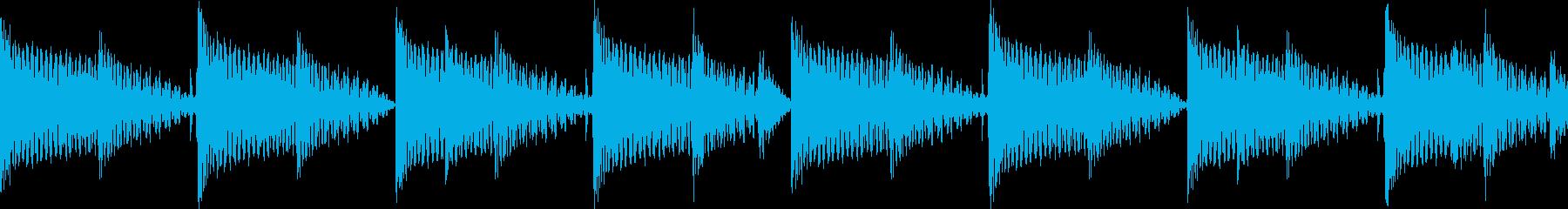 BPM128EDMリズムループキーFの再生済みの波形