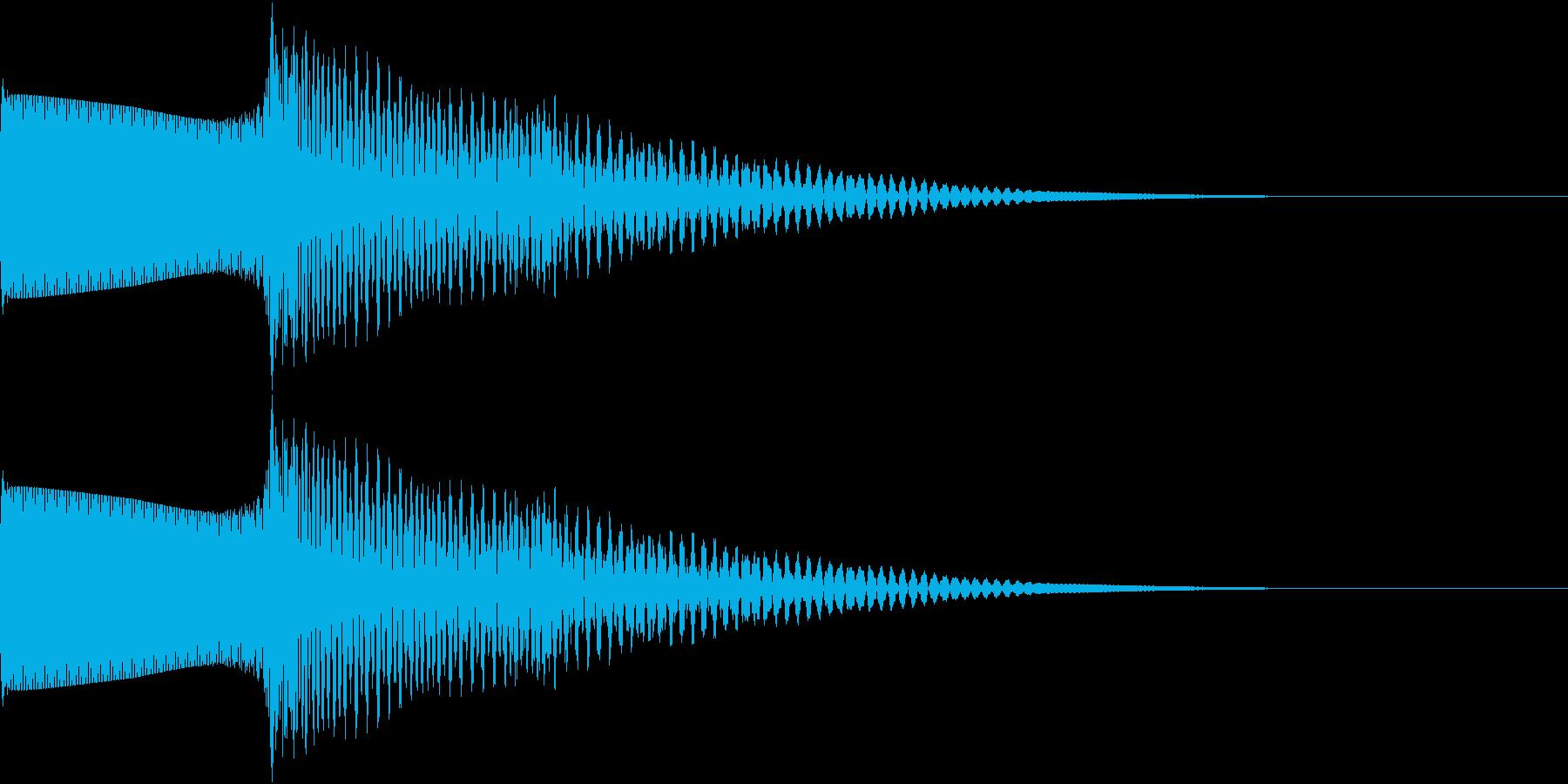 RPG エフェクティブな電子音の再生済みの波形