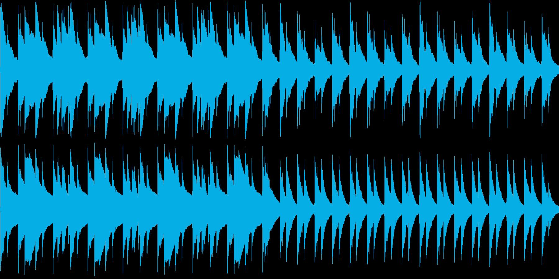 ゆったりとしたアコギの曲の再生済みの波形