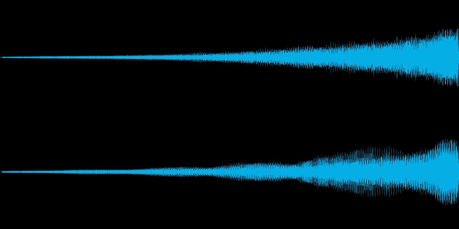 【映像転換/アイキャッチ/オープニング】の再生済みの波形