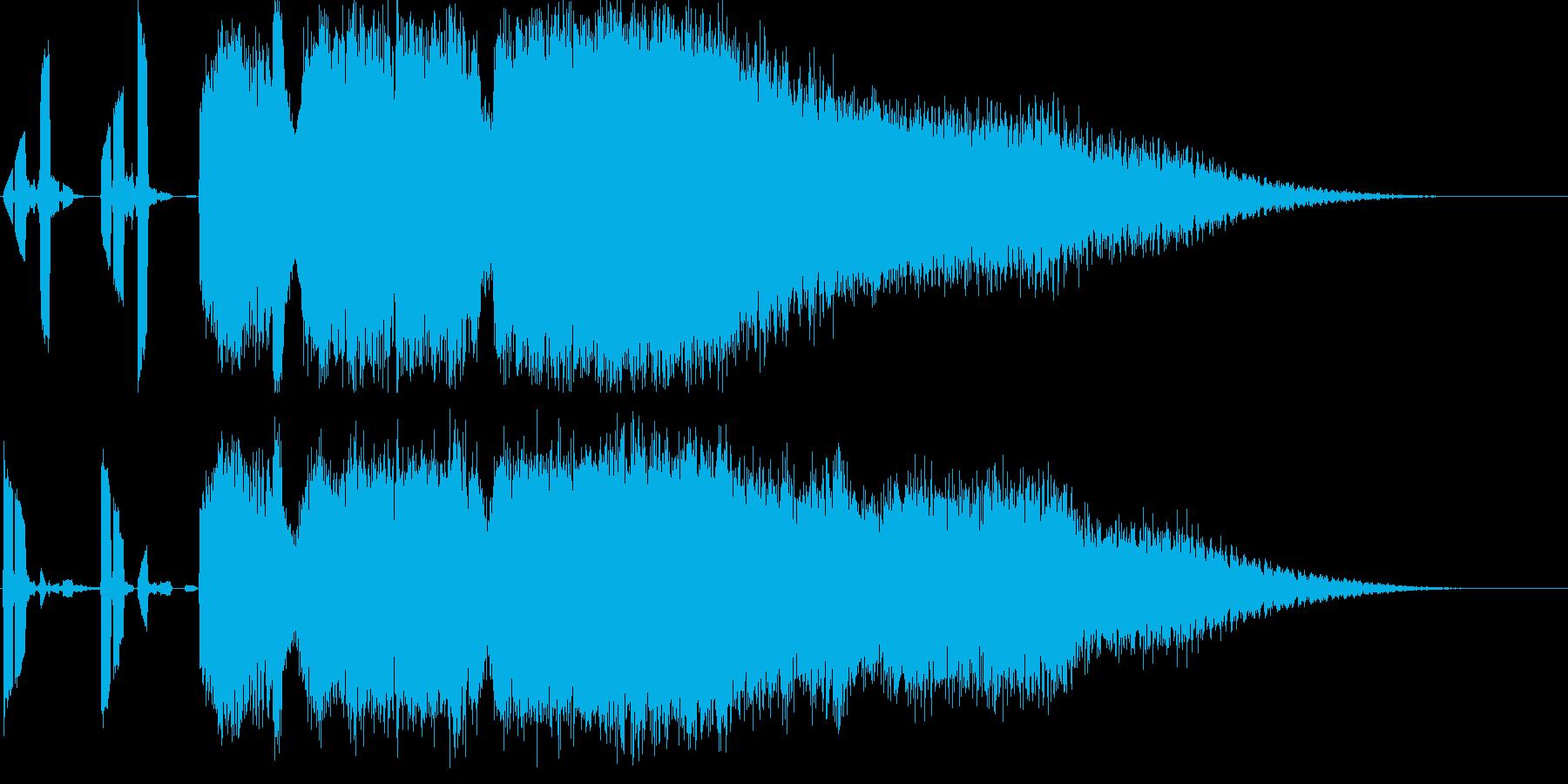 「あなただけの」サウンドロゴ(宇宙系)の再生済みの波形