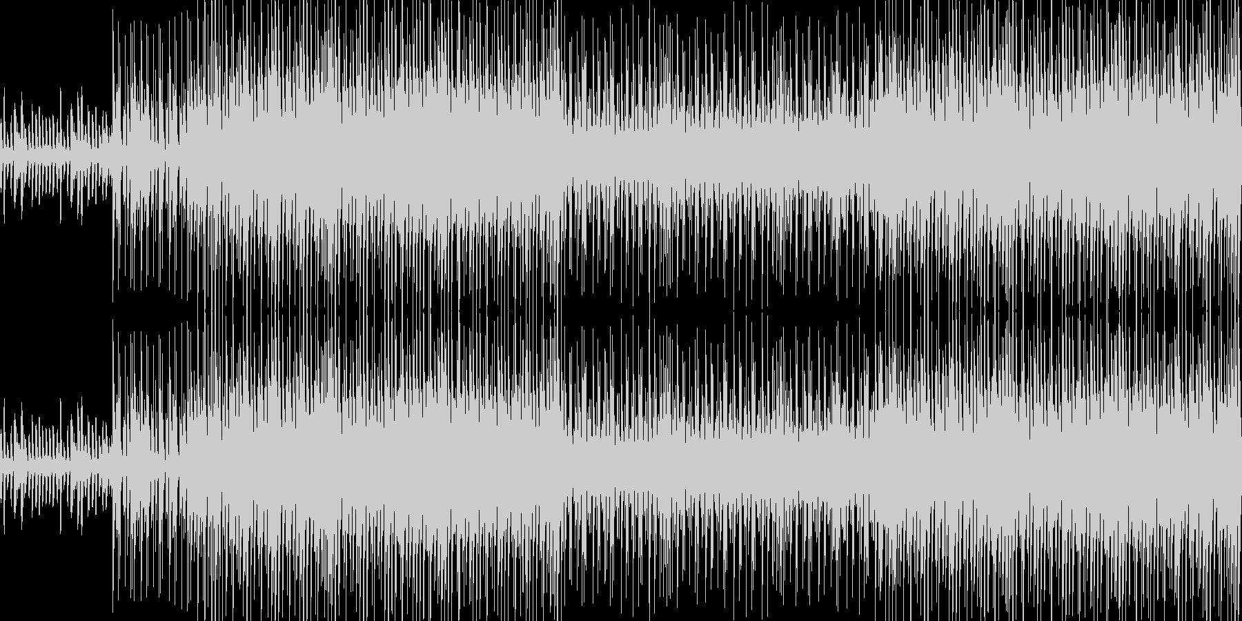 かわいくて元気でテンポ良がい曲;ループの未再生の波形