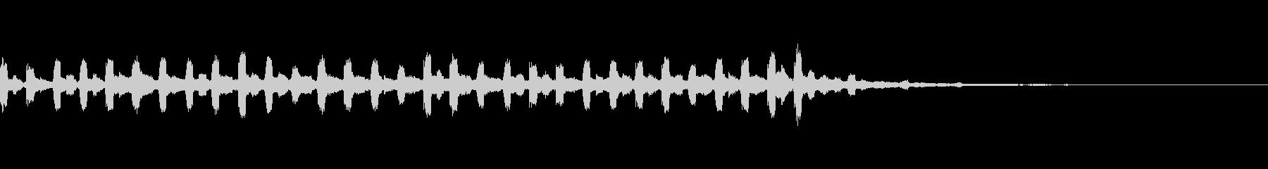 メルヘンチックなサウンドロゴの未再生の波形