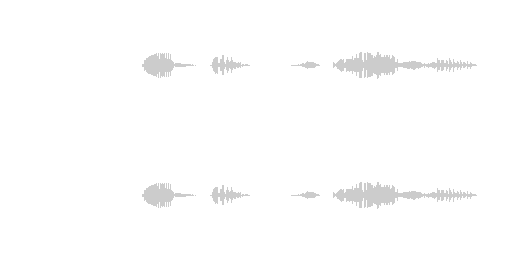 テンポ、140の未再生の波形