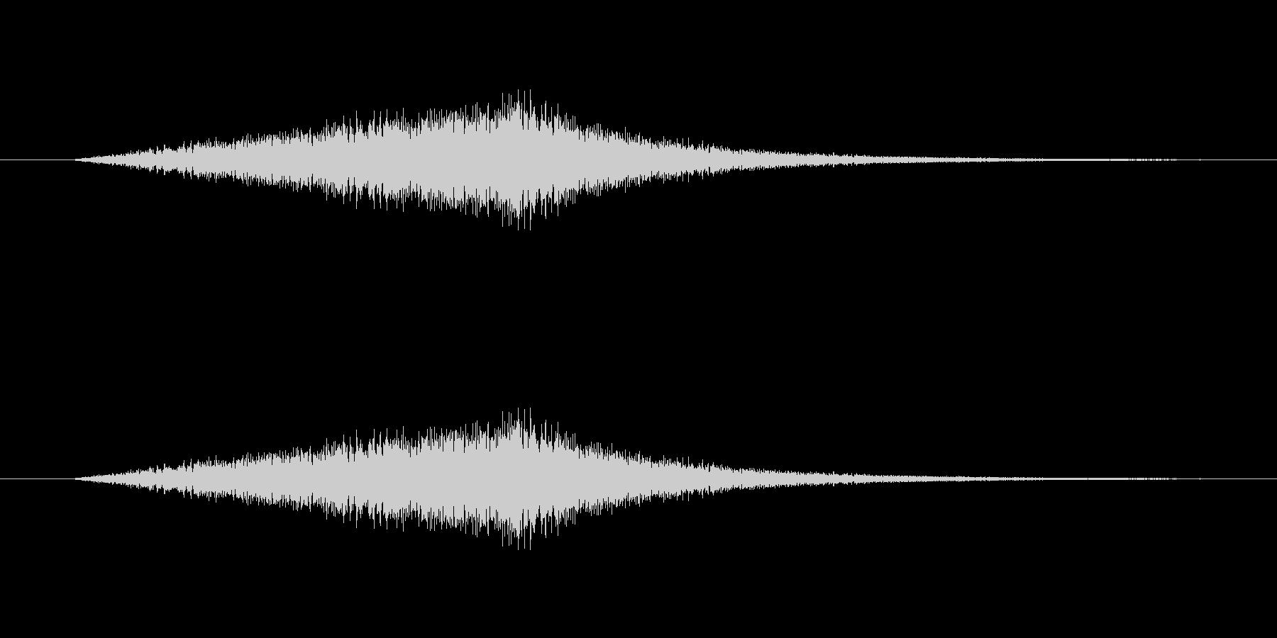 波音(海岸、ビーチでのさざ波の音)の未再生の波形