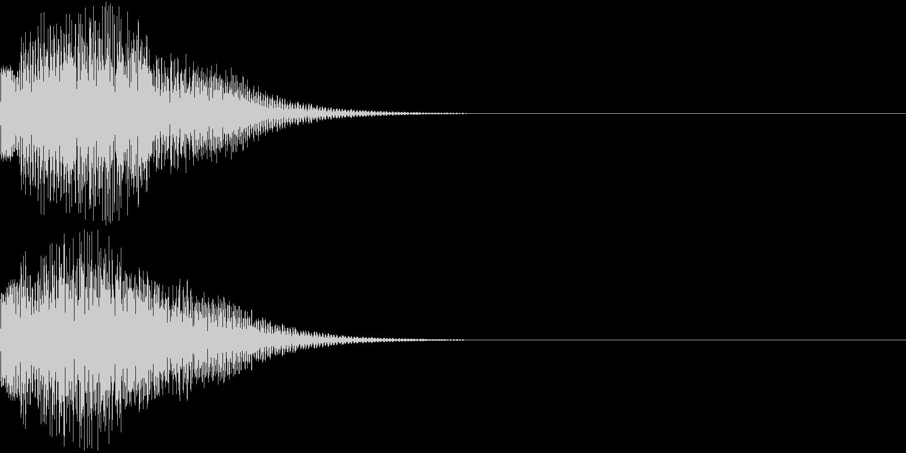 デュよ〜ん(可愛い銃の音)の未再生の波形