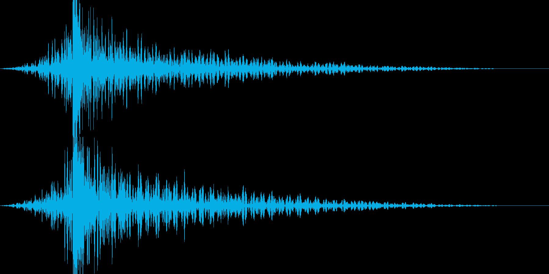 予想外の展開を表現するカーン・コーンの再生済みの波形