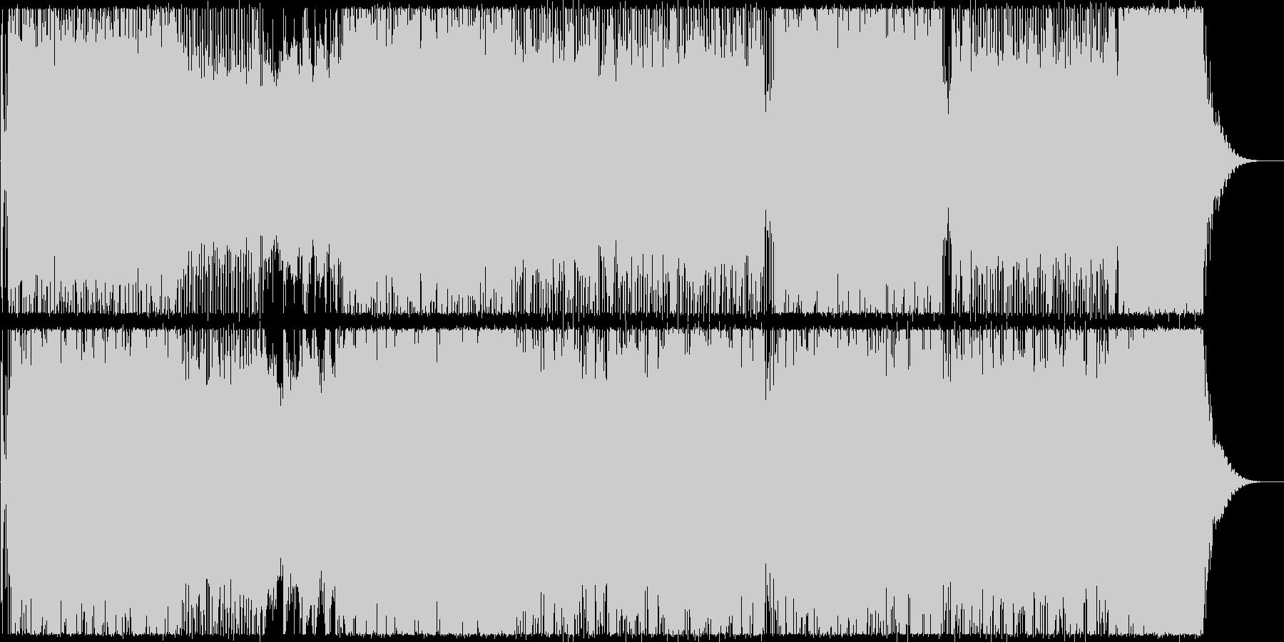 ハイテクでスピーディーなビートサウンドの未再生の波形