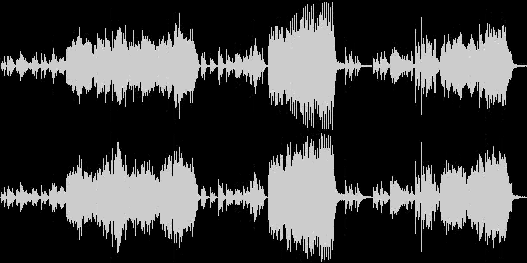 ピアノ フルート 癒し ヒーリングの未再生の波形