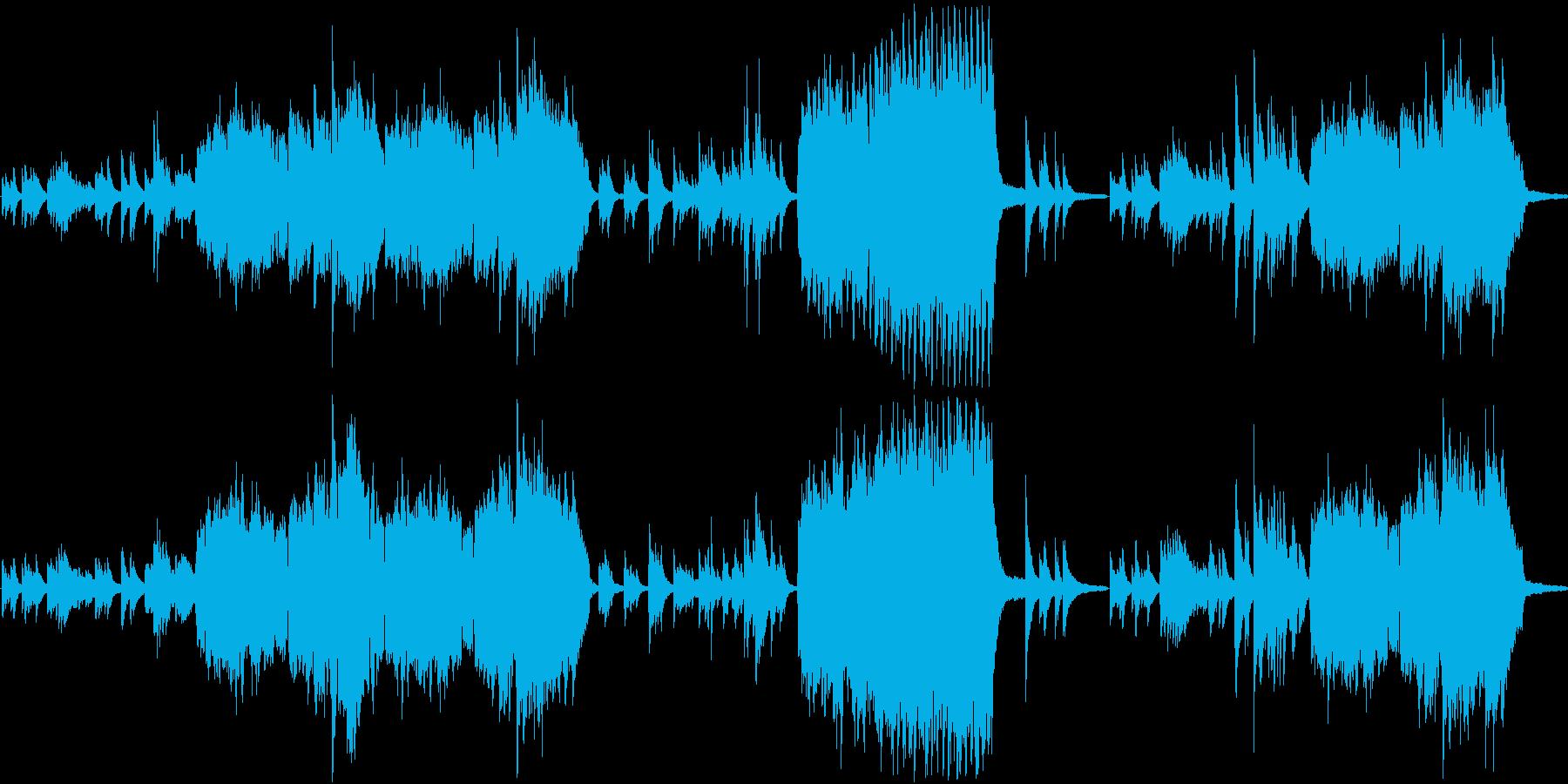ピアノ フルート 癒し ヒーリングの再生済みの波形