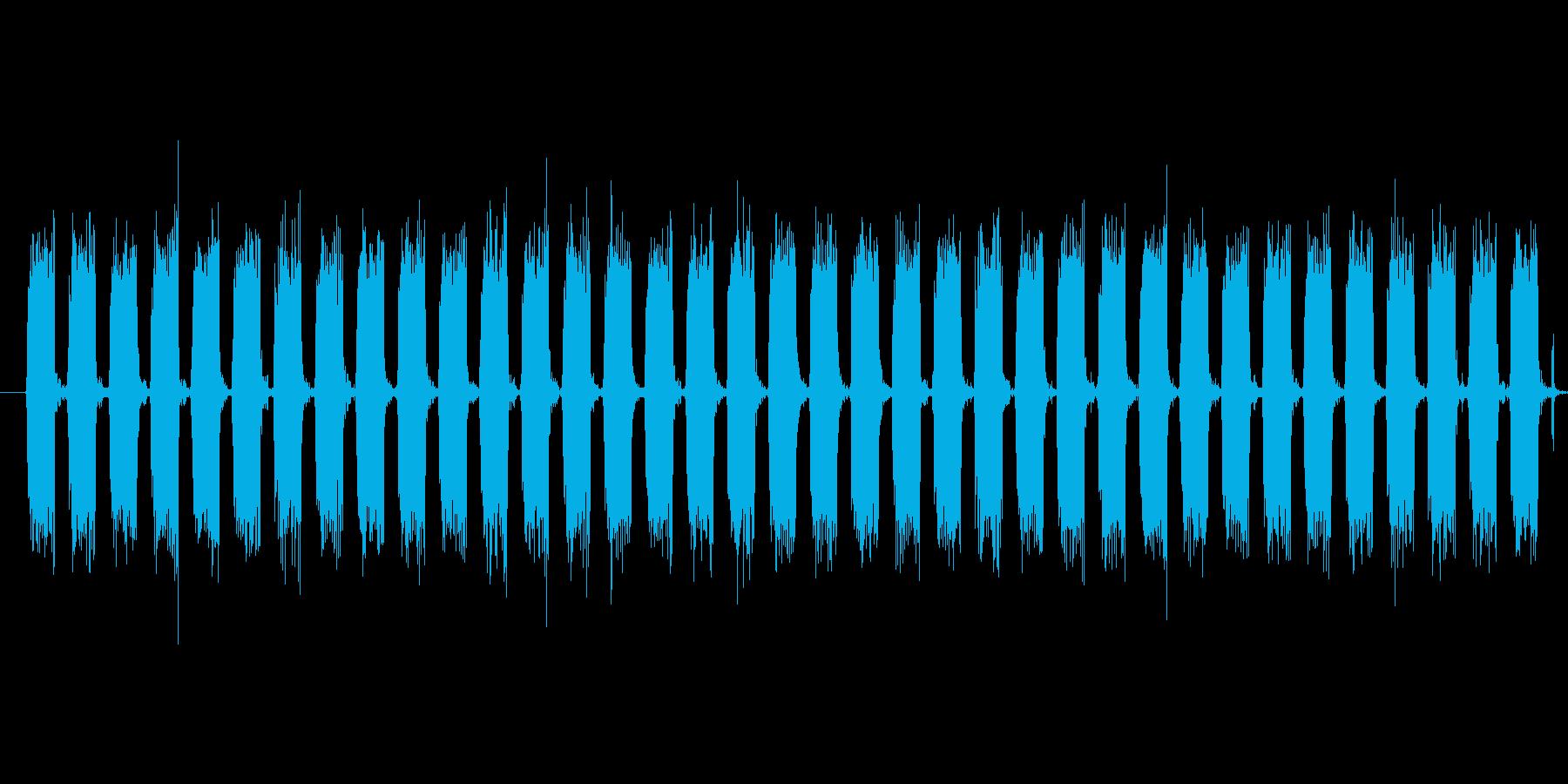 ヘリコプターの音の再生済みの波形