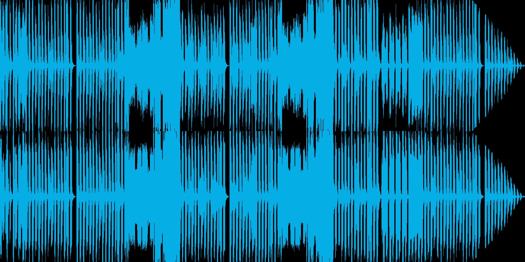コミカルだけど、怪しげな曲の再生済みの波形
