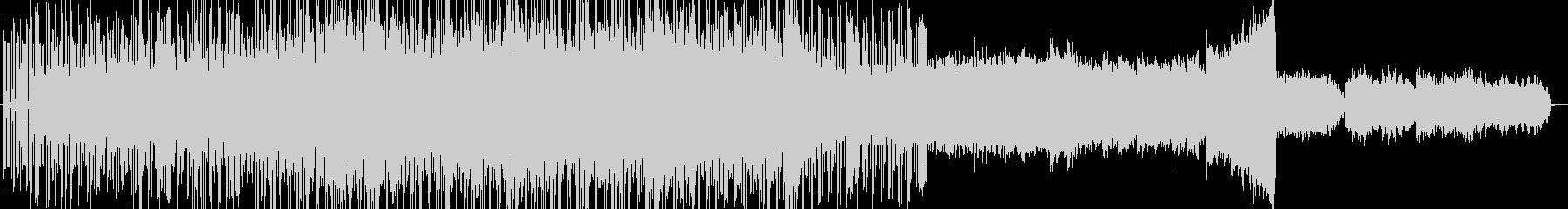 シンセベースが特徴的な無機質テクノBGMの未再生の波形