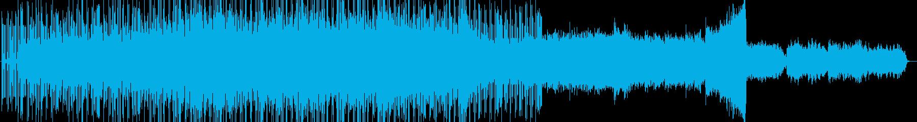 シンセベースが特徴的な無機質テクノBGMの再生済みの波形