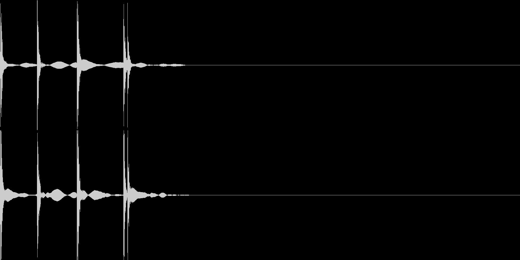 カチカチの未再生の波形