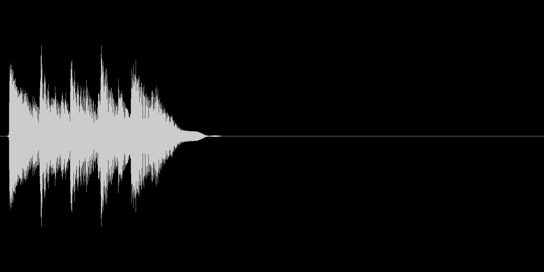 タララララン↑(場面転換、ナチュラル)の未再生の波形