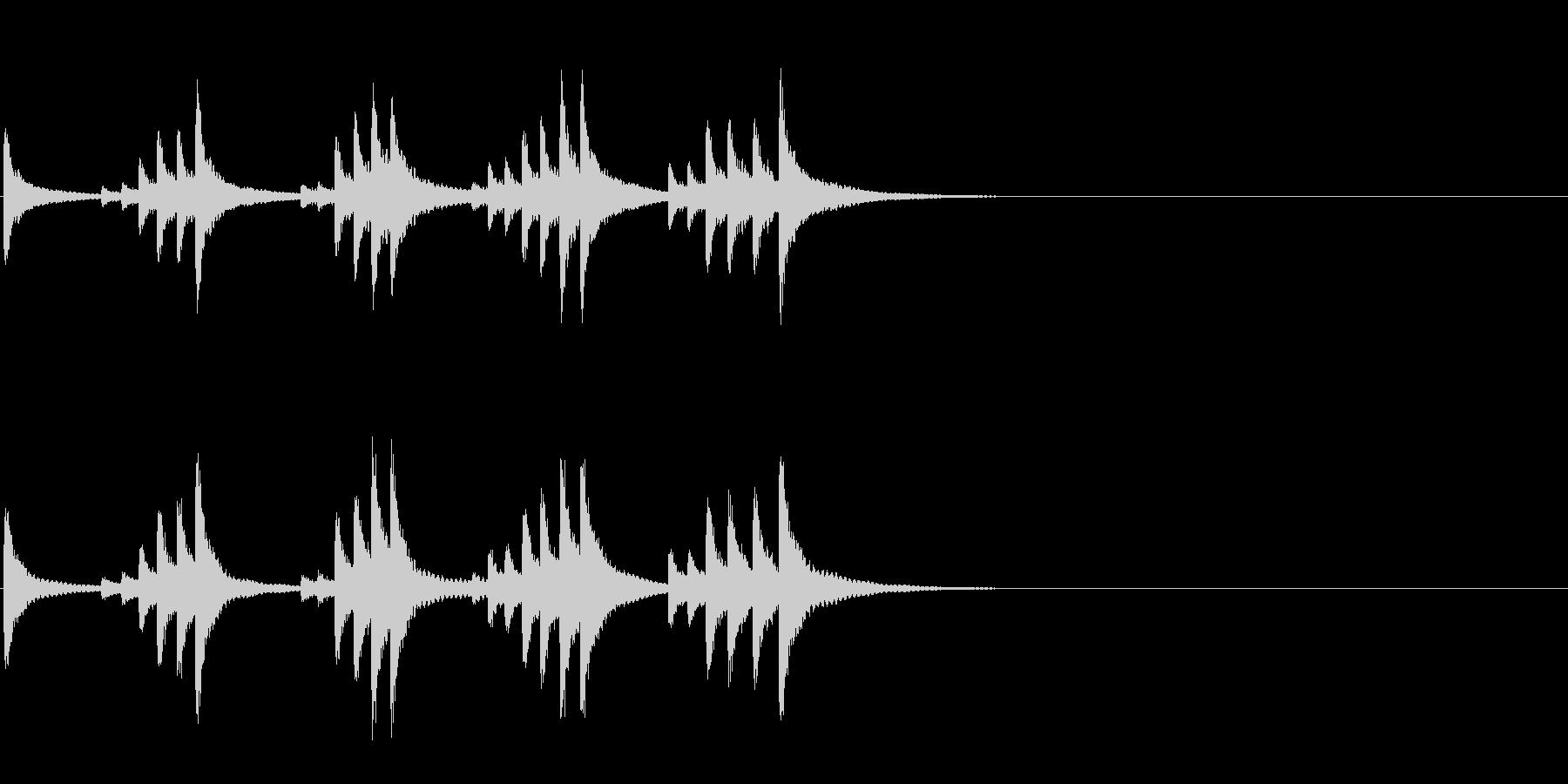 小型の鐘「本つり鐘」のフレーズ音3の未再生の波形