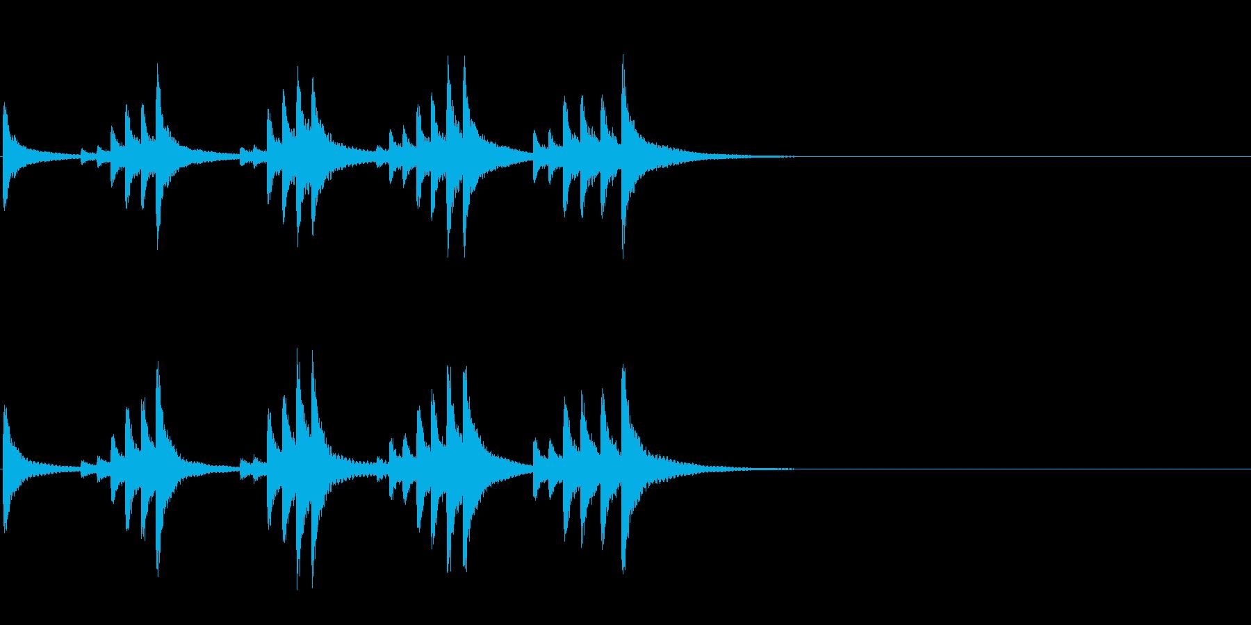 小型の鐘「本つり鐘」のフレーズ音3の再生済みの波形